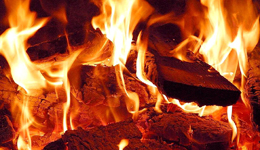 Log Fire Flames